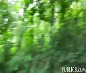 Perky tits eurobabe screwed in the woods