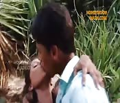 Public fuck for teen couple