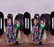 VR Cosplay X Threesome With Jade And Kitana