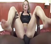 Blonde MILF wants the black dick in her ass