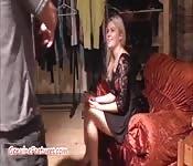 Casting mit einer wunderschönen Blondine