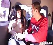 Sex mit Gigi Love im Auto