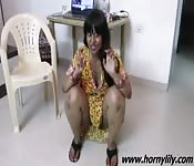 Horny miss with thick thighs talks up a storm