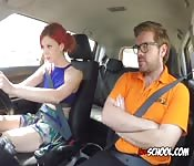 Chick Blows Her Driving Instructor