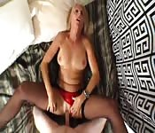 MILF POV panty fuck, suck and screw