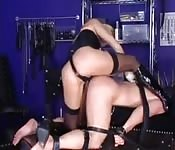 This mistress owns her slave