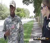 Fake soldier is caught lying to milf cop