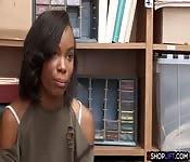 Ebony shoplifting teen got hard smashed