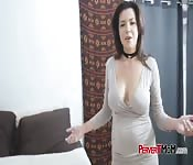Milf gets to ride a big hard cock