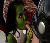 Superheros fuck to see who is the horniest avenger