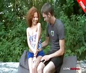 Petite Redhead Fucked by the River