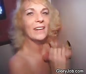 Dirty Blonde Amateur At A Glory Hole