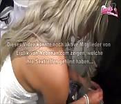 Geile Deutsche Blondine doggy in der Umkleide
