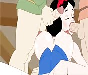 Snow White cartoon gets gang banged