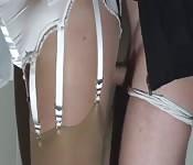 Fucked in her suspenders