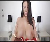 Grote tieten op de webcam