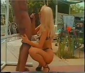Amazing interracial fuck at the garden