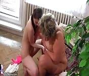 Mamá gordita jugando con una jovencita