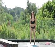 Yoga babe has sexy fuck