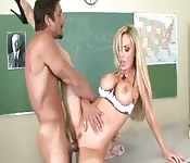 Fucking the busty teacher