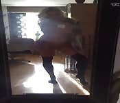 Rubia cachonda posa desnuda