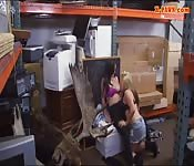 Lesbian couple threesome with pawn dude