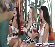 Amazing foursome with three horny MILF`s