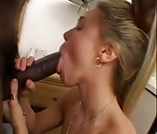 Blonde on Black gets it anal