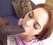 Only 18 years and a half and gets fucked by a black cock