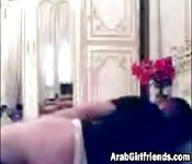 Arab couple fucks nicely with webcam on