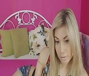 De geile blonde webcam show