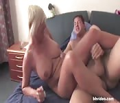 Wrestling old woman tits