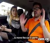 Blondie Sucks Driving Instructors Cock