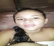 Colombiana muy arrecha le manda video a su novio