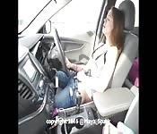 Masturbándose mientras conduce