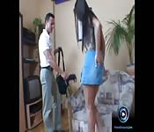 Naughty Yvette Balcano two guys both her holes