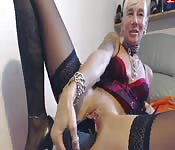 Punky German milf webcam show