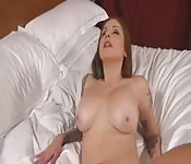 Brunette with super sweet tits works to get you off