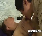 Follando con una coreana caliente