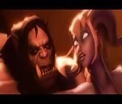 Amazing hardcore 3d monster fuck anime porn