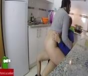 Pärchen in der Küche