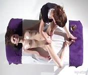 Meid heeft massage en is geil