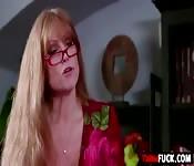 Busty stepmom gets pussy drilled
