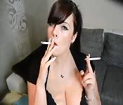 Rauchendes deutsches Luder