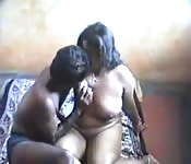 Indian couple filming their first venture into amateur porn