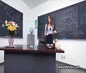 POV anal in classroom with hot milf