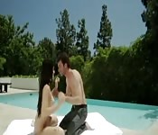 Teen slut fucked by pool