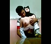 Arab boyfriend and babe caught on cam