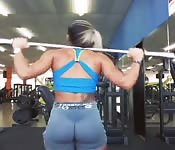 Fitness muscle girl