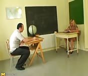 Classroom sex with teacher and student